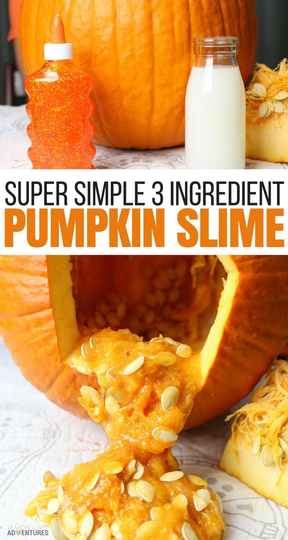 Super Simple 3 Ingredient Pumpkin Slime