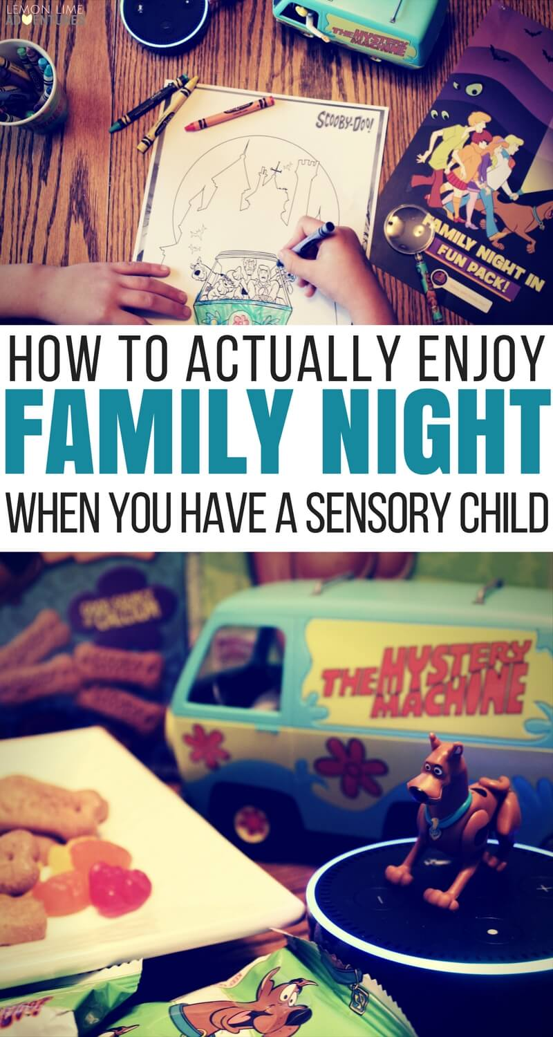 How to Actually Enjoy Family Night When You Have a Sensory Child