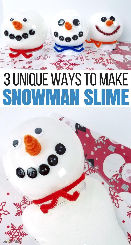 3 unique ways to make snowman slime