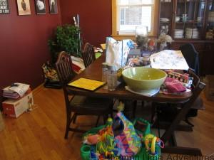 Homeschool mess