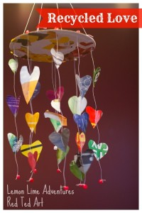Recycled heart mobile