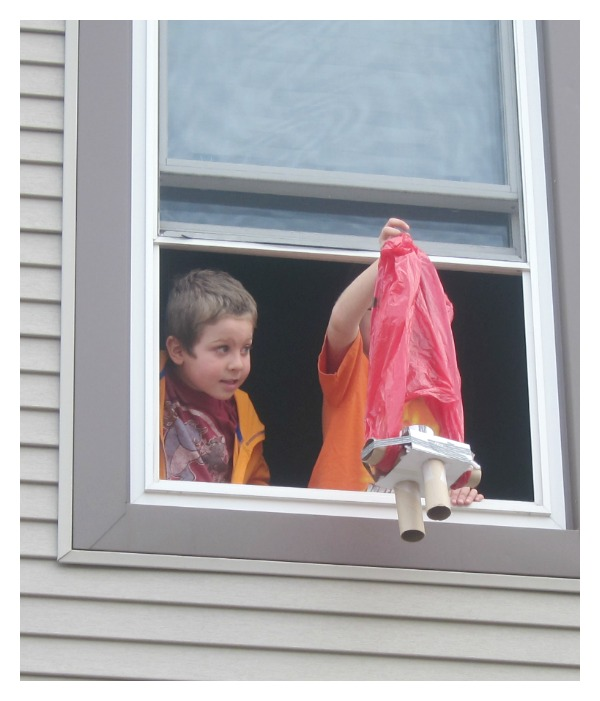 2nd story egg drop trial
