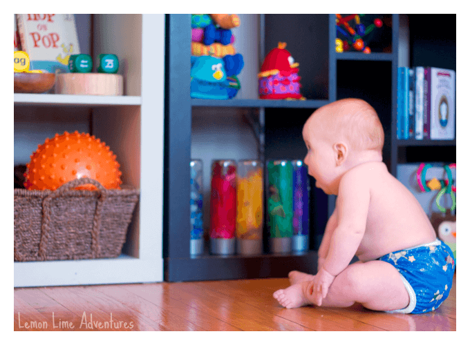 Reggio Inspired Baby Play Spaces with Baskets