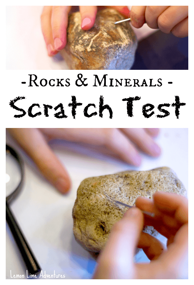 Rocks and minerals Scratch Test