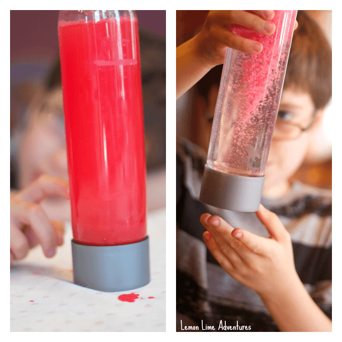 Sand and Moon Sand Sensory Bottles