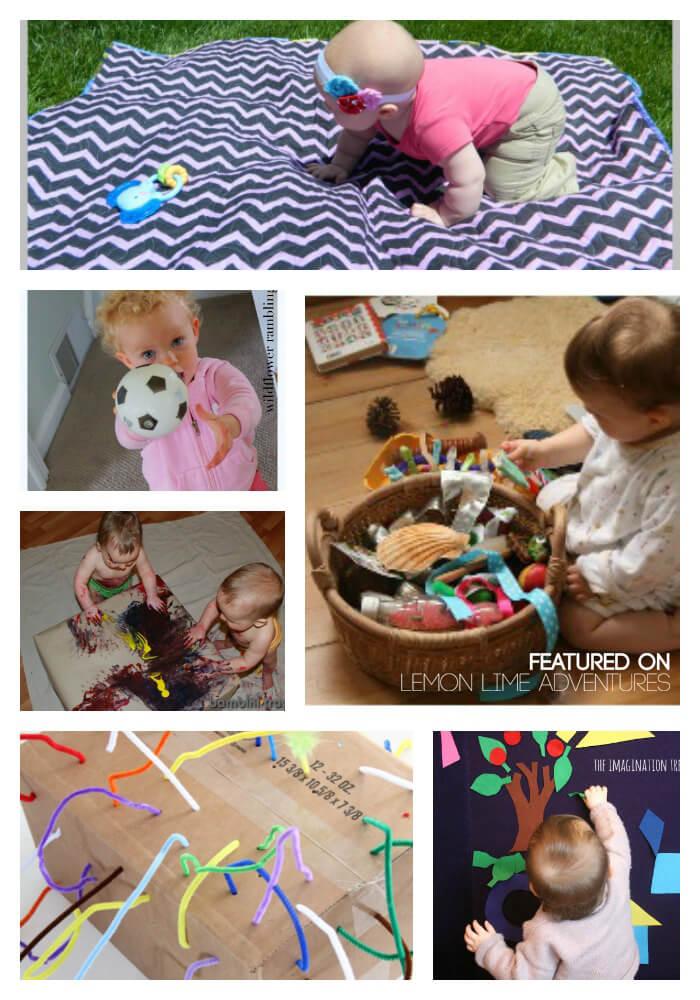 Gross and fine motor activities for babies.