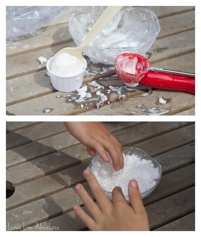 Ice Cream Dough with Shaving Cream
