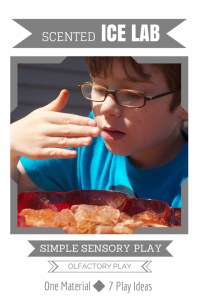 Simple Sensory Play: Scented Ice Lab