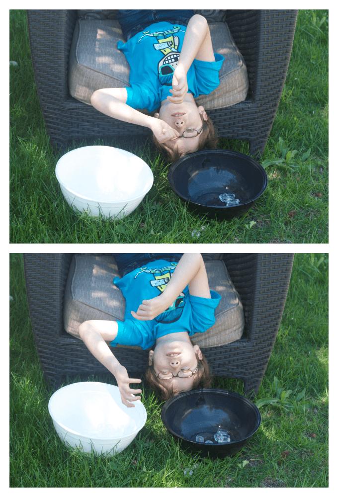 Vestibular tactile simple sensory play for summer.