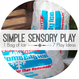 simple sensory play ice series