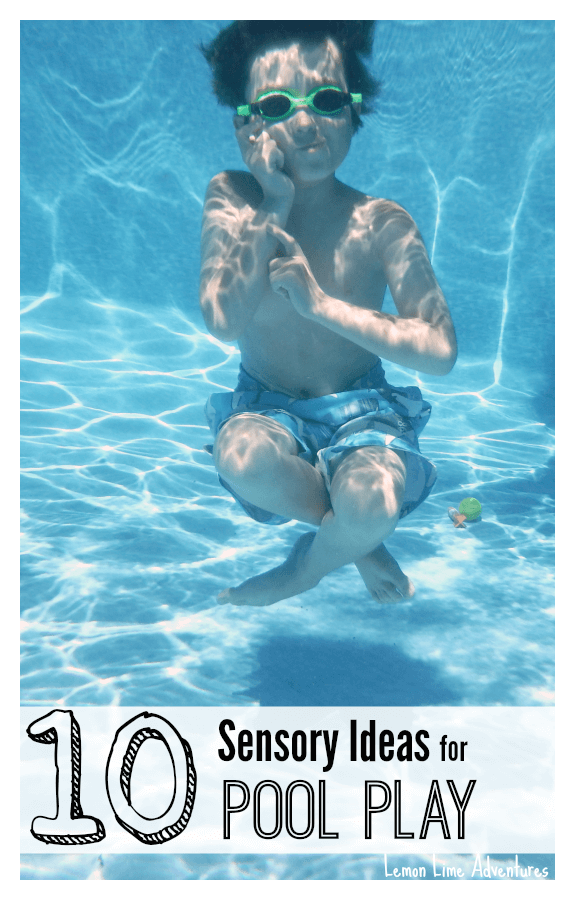 10 Sensory Play Ideas in the Pool