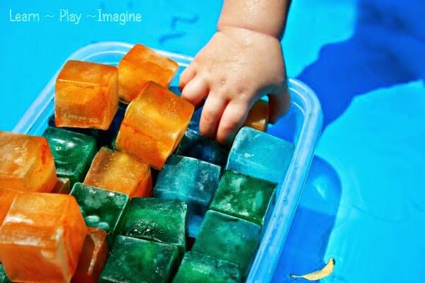 Ice in the Play Pool