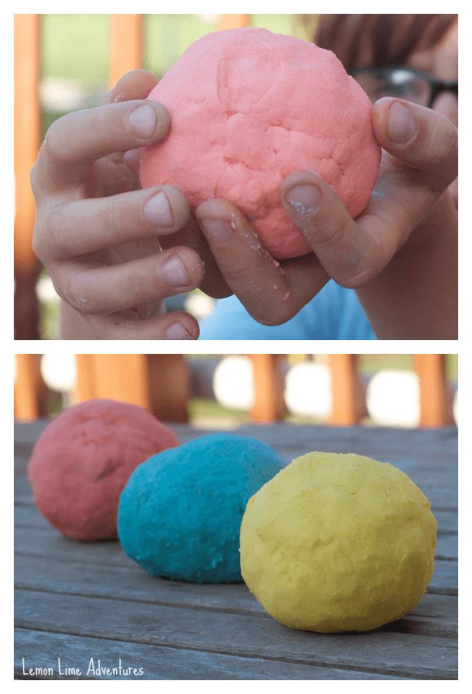Molding Fizzy Dough