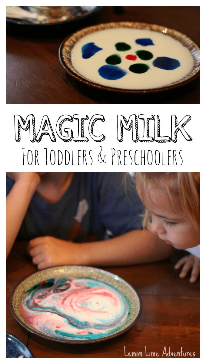 Magic Milk for Toddlers and Preschoolers