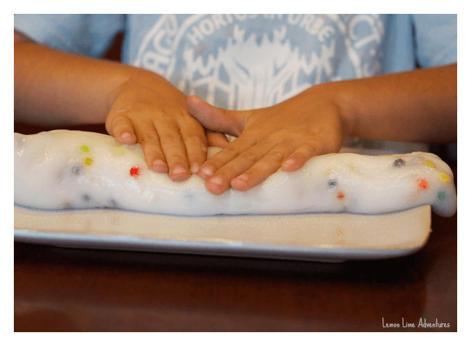 Rolling Lego Slime Fine Motor Play