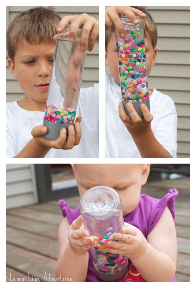 Sensory Bottle with Water and Beads
