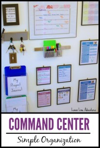 Organizing Life with a Family Command Center