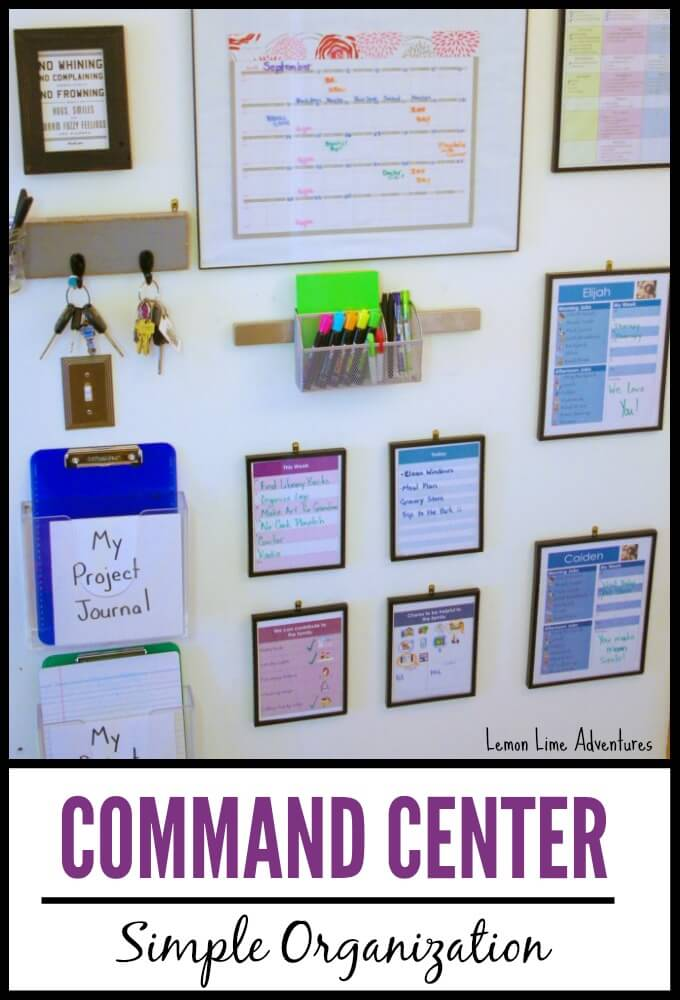 Diy Calendar Homeschool : Organizing life with a family command center
