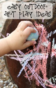 Simple Toddler Play | Outdoor Art Ideas