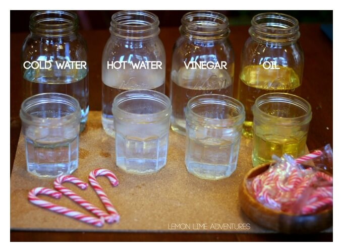 Dissolving Candy Cane Set up