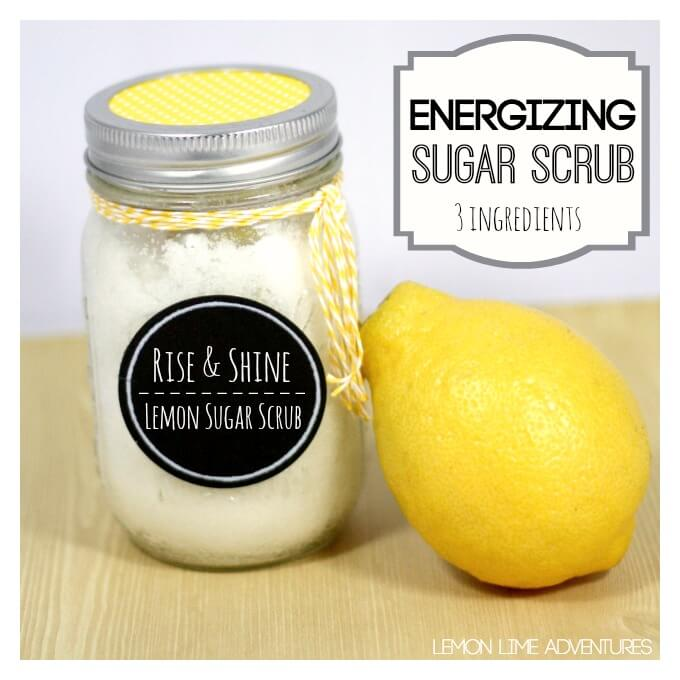 Energizing Lemon Sugar Scrub