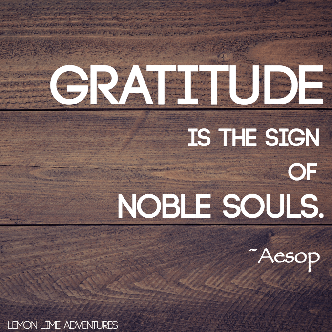 Gratitude is the sign of noble souls quote by Aesop