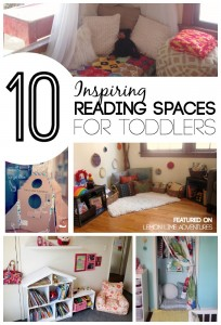 Inspiring Reading spaces for Toddlers