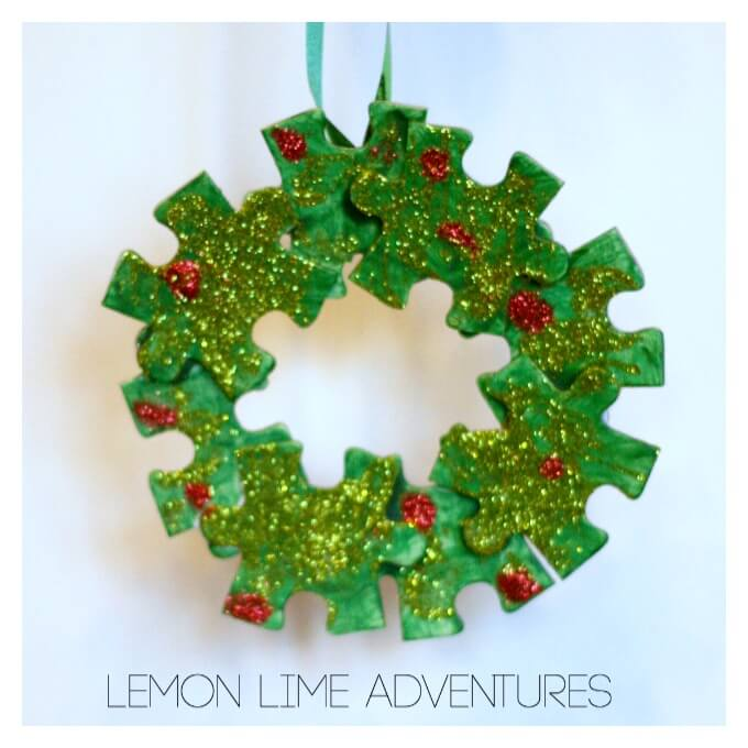 Puzzle Piece Ornament for Christmas