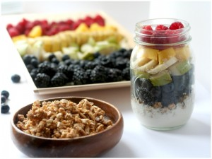 Delicious and Healthy Rainbow Parfait