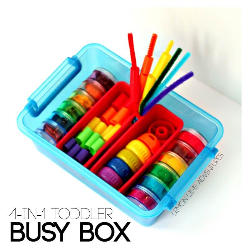 Toddler Busy Box with Rainbows