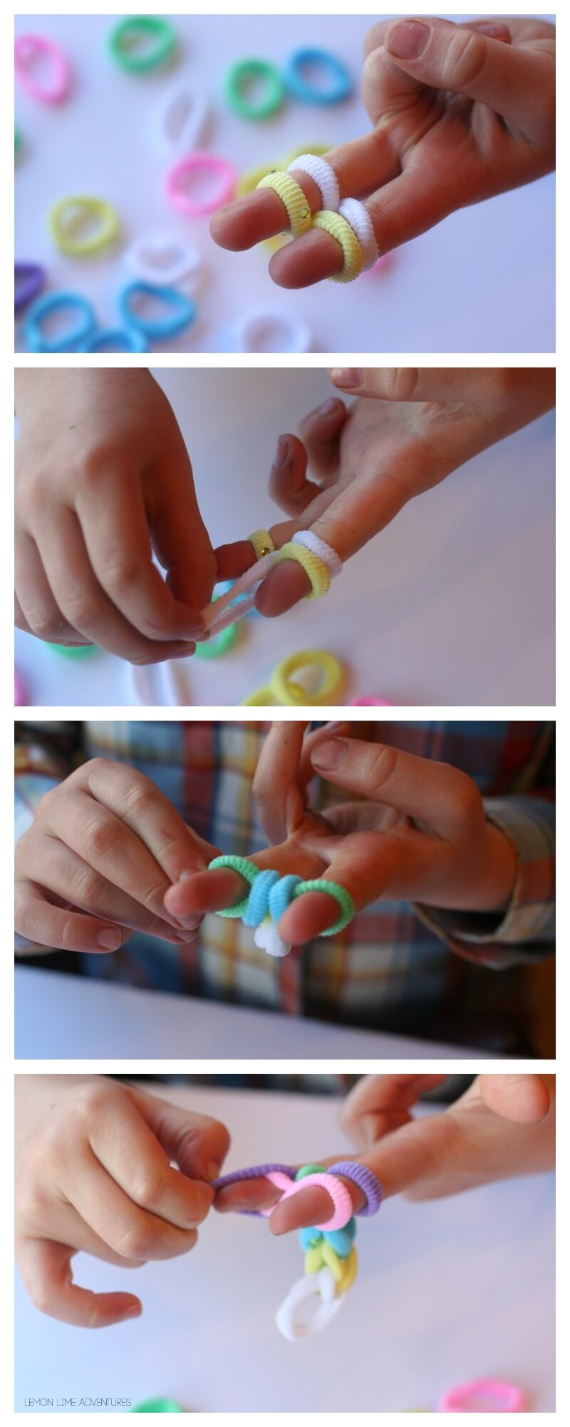 How to make a simple finger knit project without rainbow looms