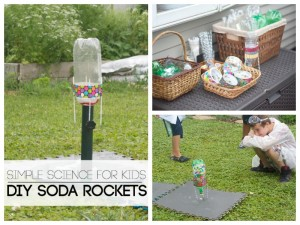 DIY Rocket Building Station for Kids