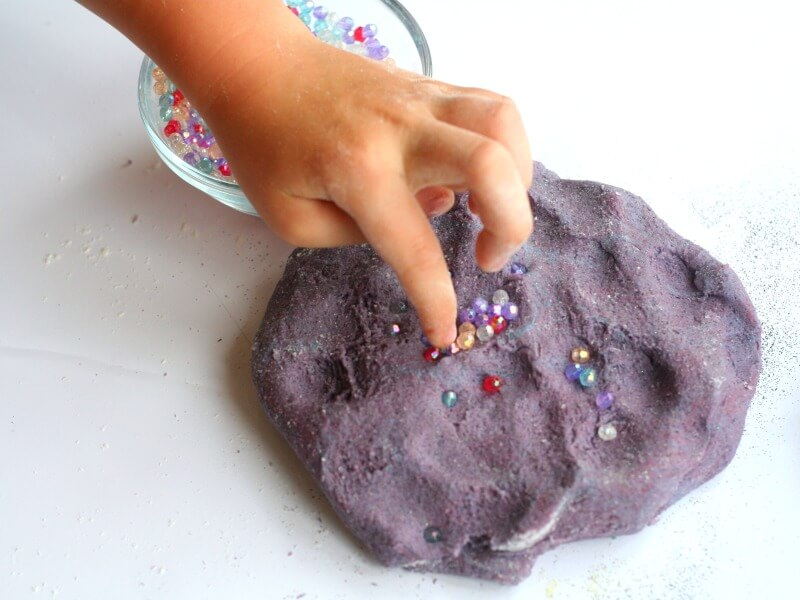 Fine Motor Skills with Galaxy Salt Dough