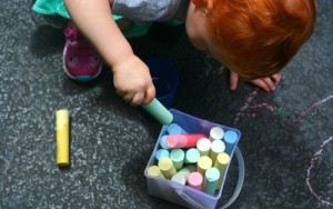 Super Simple Chalk Games for Toddler Play