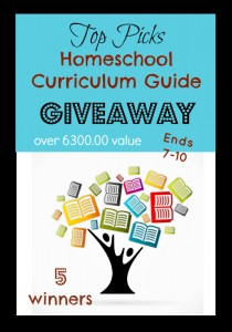 Huge Homeschool Curriculum Giveaway Valued Over $6,300