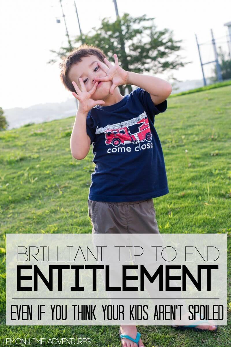 end entitlement in kids