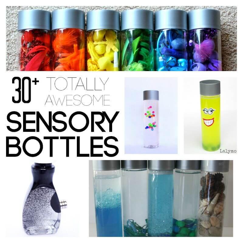 Love these sensory bottles for kids! So cool.