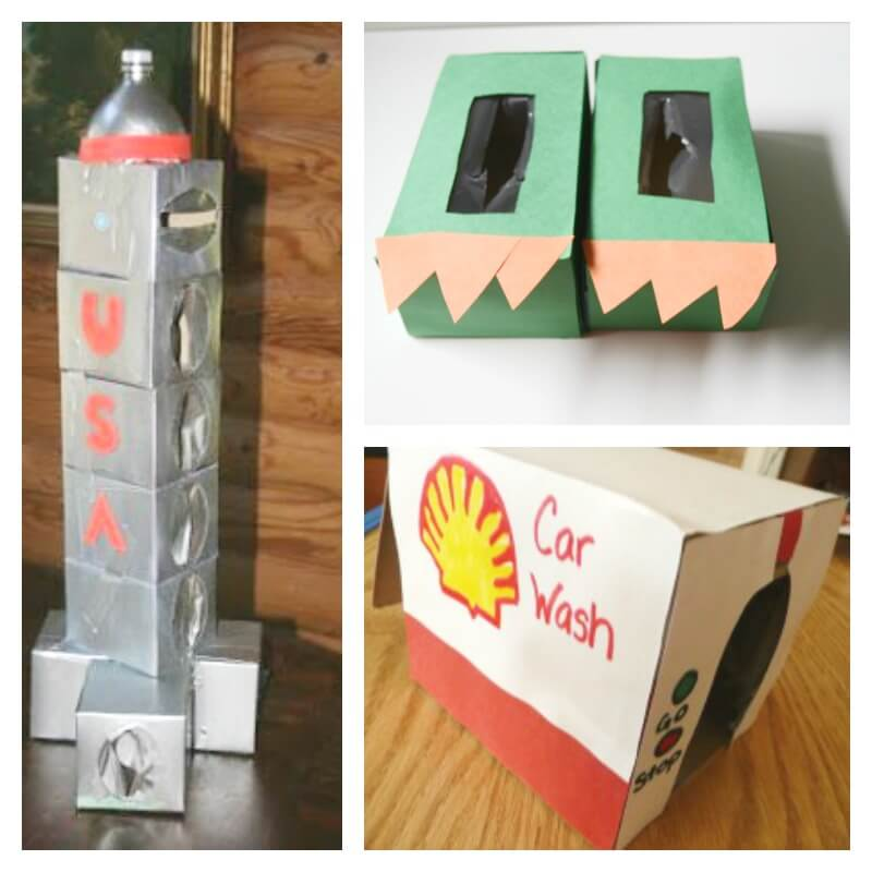 Recycled Crafts Using Tissue Boxes