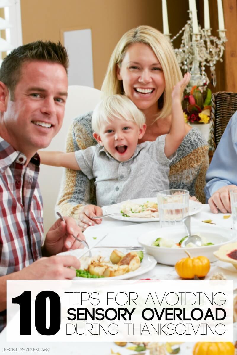 Tips for Avoiding Sensory Overload During Thanksgiving