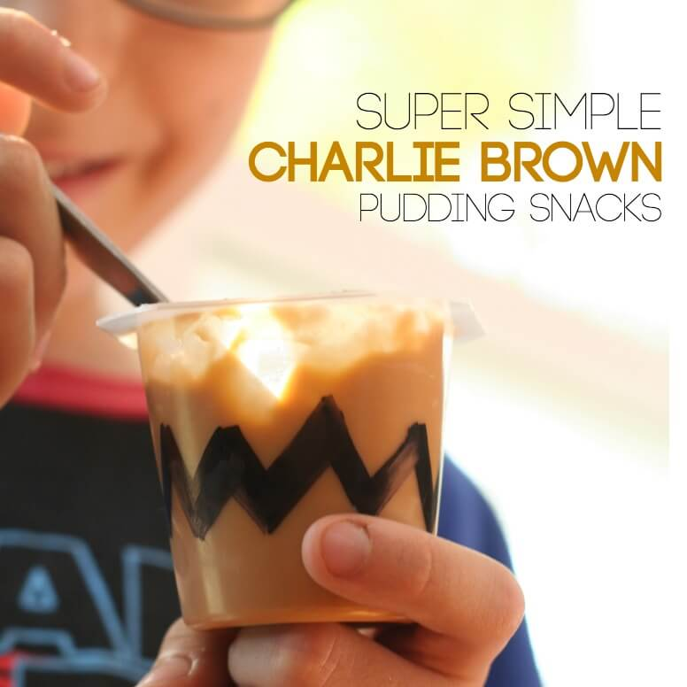 Super Simple and Fast Charlie brown Pudding Snacks