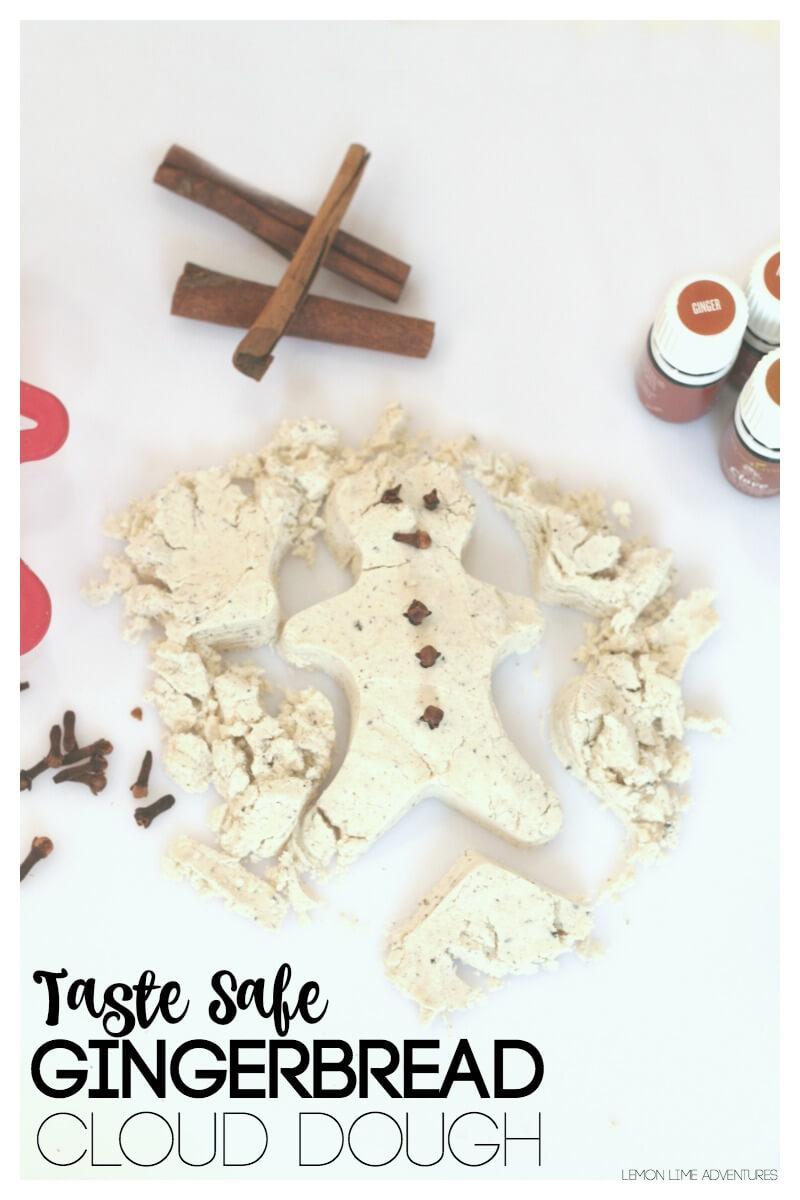 Taste Safe gingerbread Cloud Dough