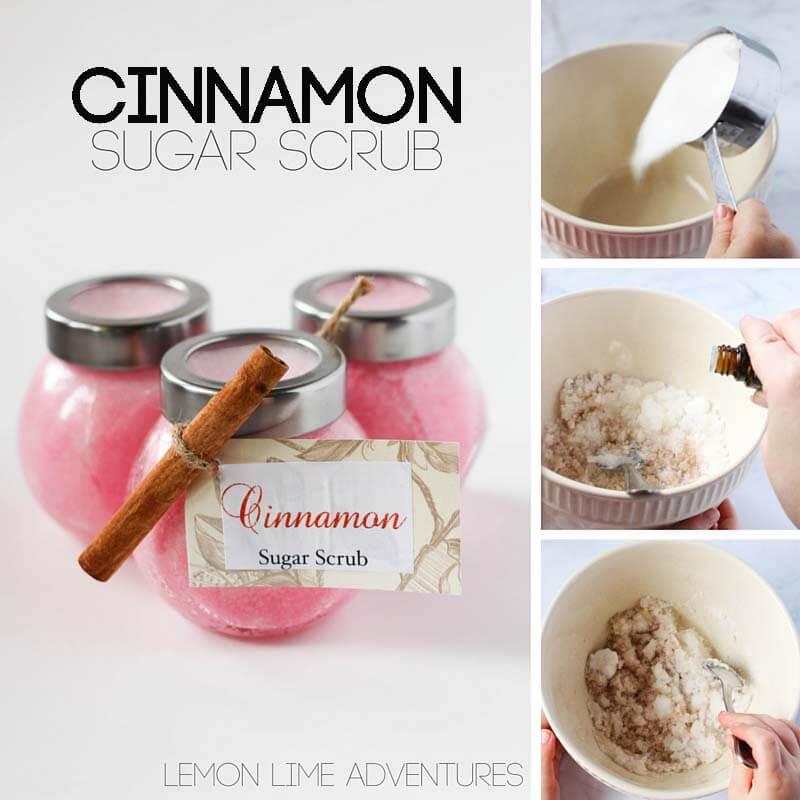 Cinnamon Sugar Scrub with Essential Oils