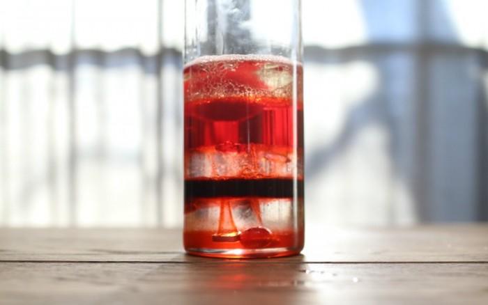 Valentines Themed Density Jar Experiment for Kids