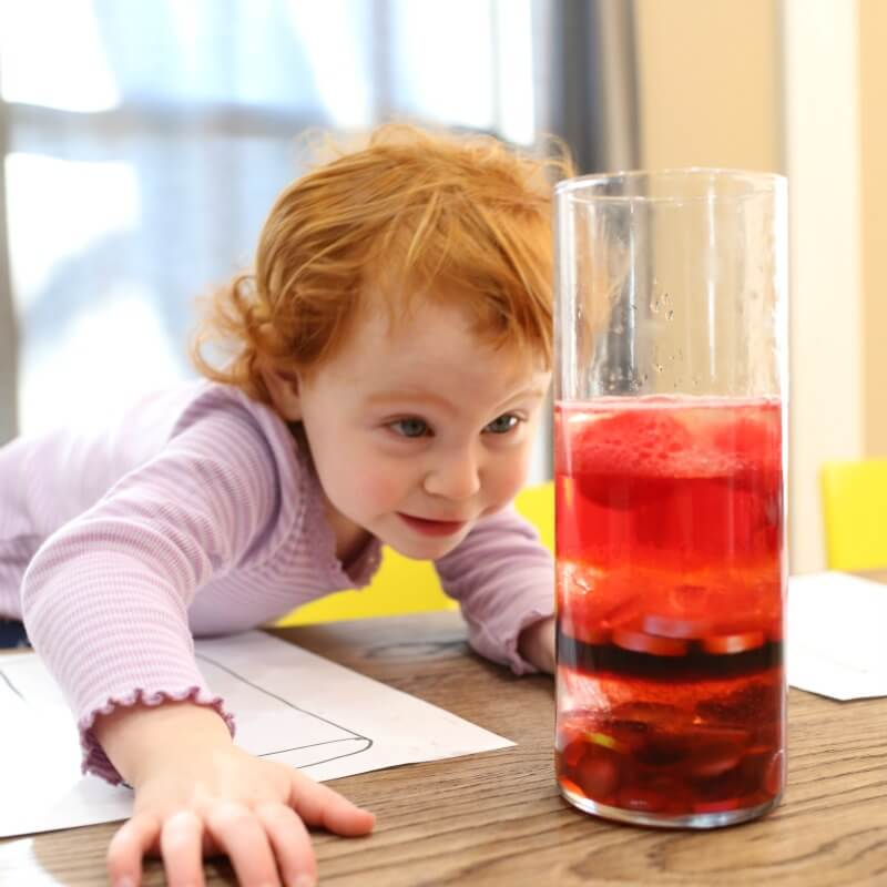 Density Jars for Toddlers and Totschool