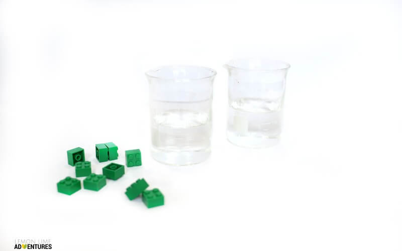 Lego Displacement Experiment Supplies