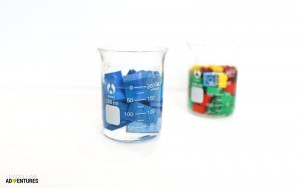 Lego Displacement Experiment for Kids