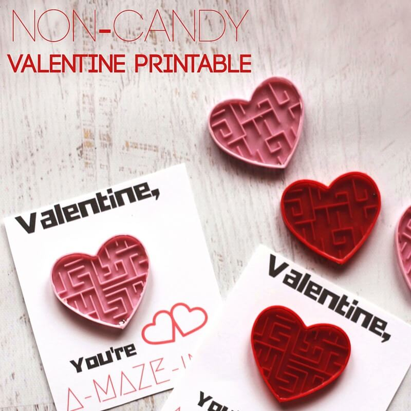 Non Candy Sensory Friendly Valentines