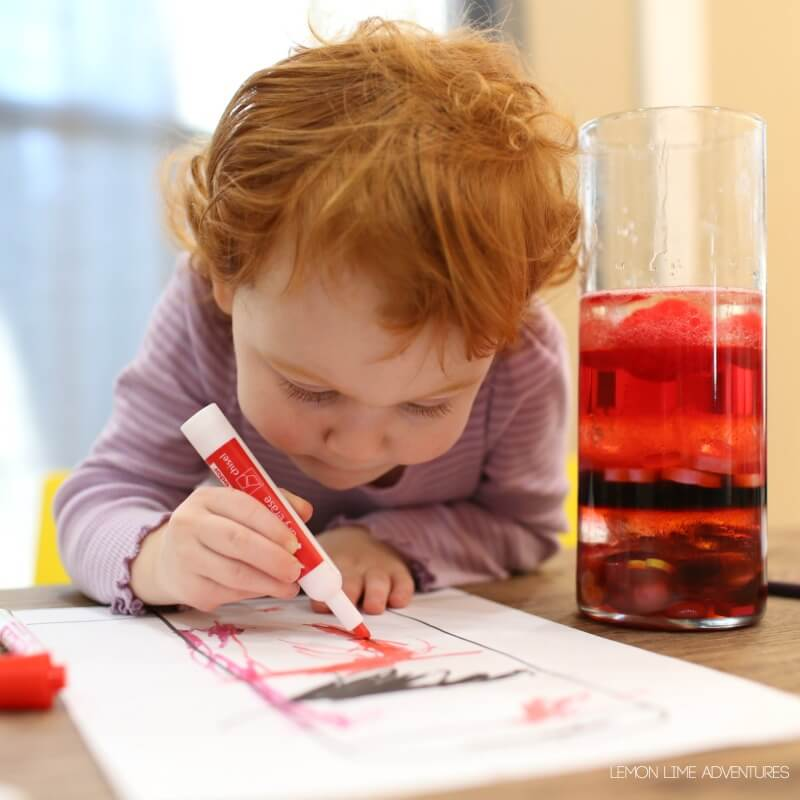 Observing Density Jars with Toddlers