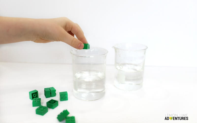 lego Discplacement Experiment Steps
