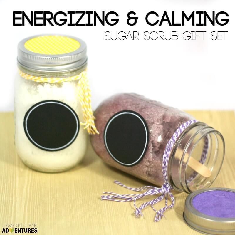 DIY Sugar Scrub Gift Set | Energize and Calm